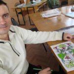 Тернопільські бійці, які повернулися з війни, релаксують в бібліотеці