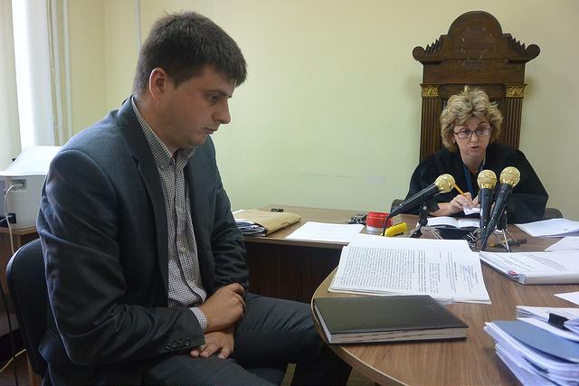 Прокурор Іван Чайка під час судового засідання