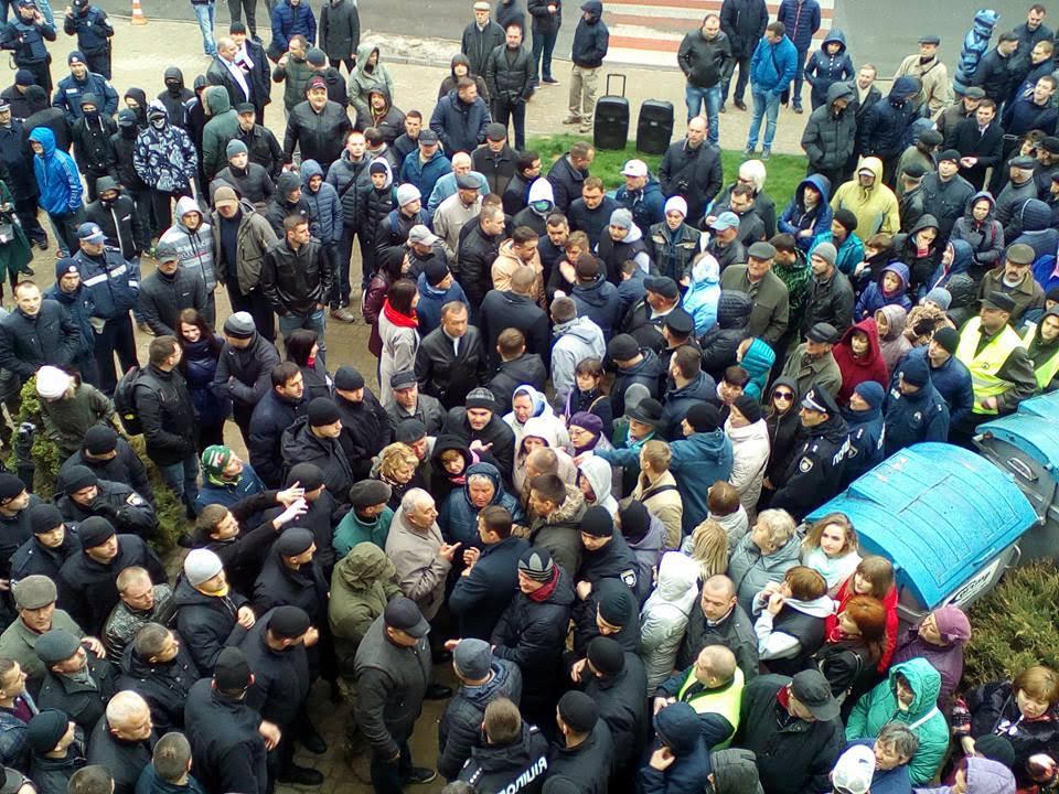 Протистояння під міською радою 24 квітня 2017 року