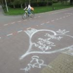 На набережній Тернопільського ставу написи витирають вибірково (фото)