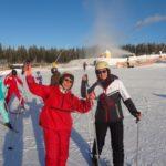 Як тернополянка у Карпатах вивчила новий стиль їзди на лижах