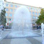У Тернополі відкрили новий громадський простір біля Головпоштамту та оновлений фонтан «Кульбаба»