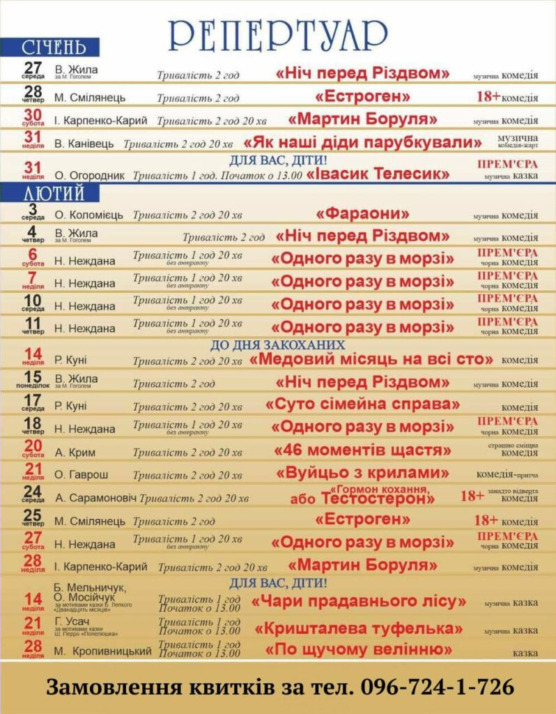 У кінці січня запрацює Тернопільський драмтеатр